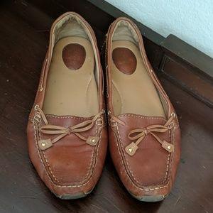 Clarks Dunbar Tan Artisan Driving Loafers